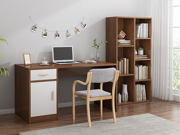 Modern contemporary writing study desk with bookshelf for kids8